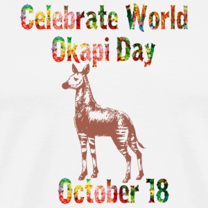 World Okapi Day Celebration T-Shirt and Gifts - Men's Premium T-Shirt