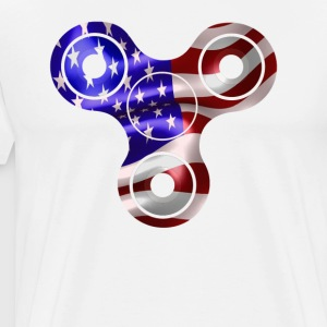 Patriotic Spinner USA Flag 4th of July America - Men's Premium T-Shirt
