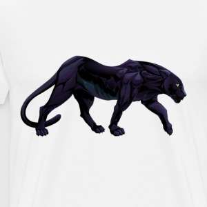 illustration of a black panther - Men's Premium T-Shirt