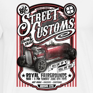 Street Customs- Royal Fairground Vintage Car shirt - Men's Premium T-Shirt