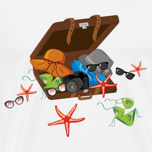 Summer holidays suitcase - Men's Premium T-Shirt