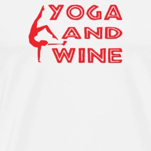 Yoga And Wine - Men's Premium T-Shirt