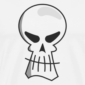 Black Skull (White Shirt) - Men's Premium T-Shirt