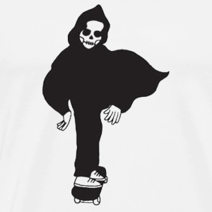 skeleton skateboard - Men's Premium T-Shirt