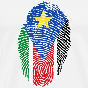 fingerprint i love wurzeln south sudan - Men's Premium T-Shirt