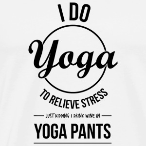 I do yoga - Men's Premium T-Shirt
