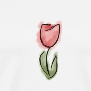 Watercolor Tulip - Men's Premium T-Shirt