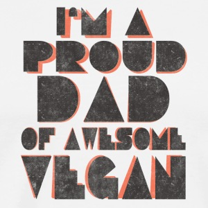 vegan t shirt I am proud Vegan dad - Men's Premium T-Shirt