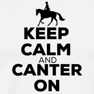 Keep Calm And Canter On - Horse Riding - Men's Premium T-Shirt
