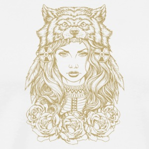 Wolf princess design - Men's Premium T-Shirt