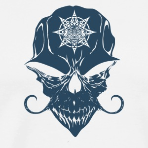 Creepy horror skull design with a logo on forehead - Men's Premium T-Shirt
