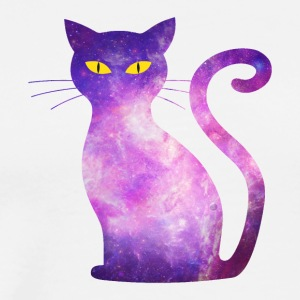space cat - kitten kitty cat galaxy love pet - Men's Premium T-Shirt