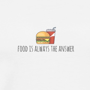 Food is always the answer - Men's Premium T-Shirt