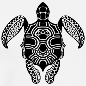 Tatoo shape turtle reptile animal wildlife vector - Men's Premium T-Shirt