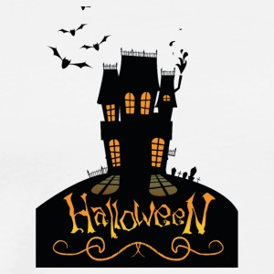 Halloween. House. Undertaker. Bats. Moonlight. Oct - Men's Premium T-Shirt