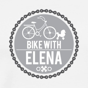 bike with elena - Men's Premium T-Shirt