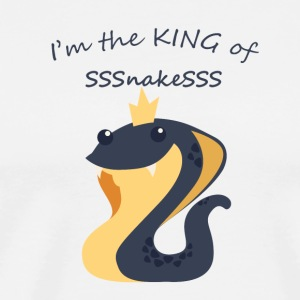 King of snakes - Cute snake with Crown - Men's Premium T-Shirt