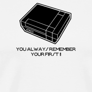 You Always Remember Your First Video Arcade Game - Men's Premium T-Shirt