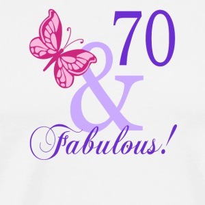 70 and Fabulous - Men's Premium T-Shirt