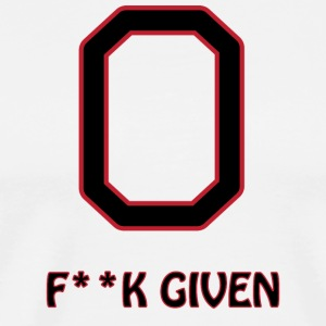 Zero f**k given - Men's Premium T-Shirt