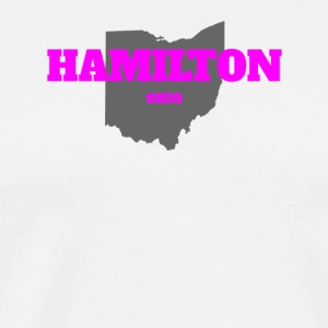 OHIO HAMILTON US STATE EDITION PINK - Men's Premium T-Shirt