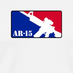 AR15 RED WHITE BLUE sticker - Men's Premium T-Shirt