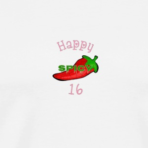 Womens Happy Spicy Sweet 16 Birthday T shirt - Men's Premium T-Shirt