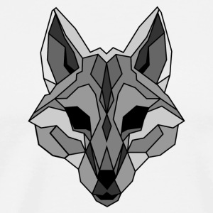 Lineart of a wolf / wolf gray - Men's Premium T-Shirt