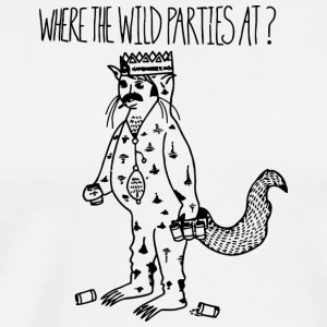 Where the Wild Parties At - Men's Premium T-Shirt