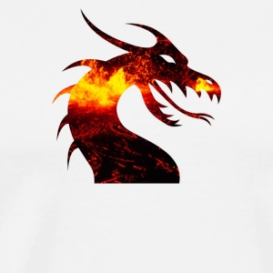 dragon on fire - Men's Premium T-Shirt