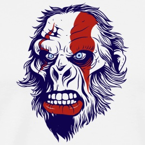 funny t shirt design with gorilla - Men's Premium T-Shirt