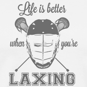 Life is better when you're laxing - Men's Premium T-Shirt