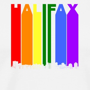 Halifax Nova Scotia Skyline Rainbow Gay Pride - Men's Premium T-Shirt