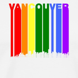 Vancouver BC Skyline Rainbow LGBT Gay Pride - Men's Premium T-Shirt