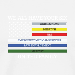 We all have your six united family - Men's Premium T-Shirt