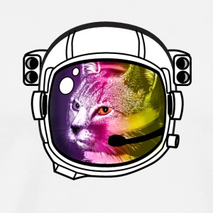 astronaut rainbow cat kitty sci-fi space helmet Lo - Men's Premium T-Shirt