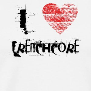 i love Frenchcore techno dubstep raver festival - Men's Premium T-Shirt