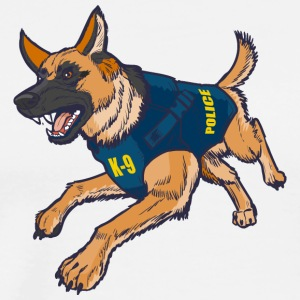 Police-K-9-German-Shepherd-Dog-Bulletproof-Vest - Men's Premium T-Shirt