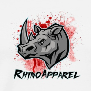 Rhino Blood Splatter - Men's Premium T-Shirt