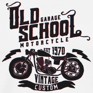 Old School Vintage Motorcycle - Men's Premium T-Shirt