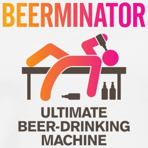 The Beerminator. Ultimate Drinking Machine! - Men's Premium T-Shirt