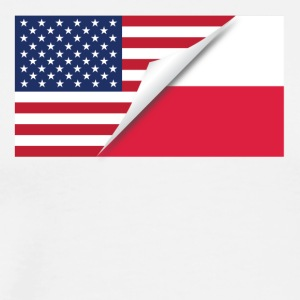 Half American Half Polish Flag - Men's Premium T-Shirt