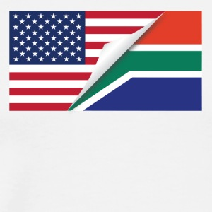 Half American Half South African Flag - Men's Premium T-Shirt