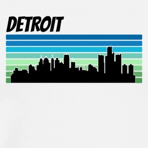 Retro Detroit Skyline - Men's Premium T-Shirt