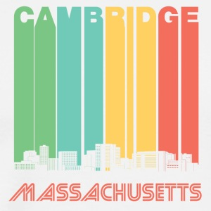 Retro Cambridge Massachusetts Skyline - Men's Premium T-Shirt