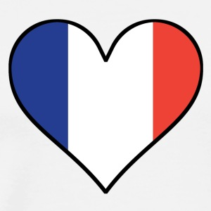 French Flag Heart - Men's Premium T-Shirt