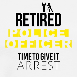 Retired police officer - Men's Premium T-Shirt
