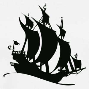 Ship Silhouette - Men's Premium T-Shirt