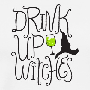 Halloween. Drink. Witches. Wine. Hat. October. Oct - Men's Premium T-Shirt