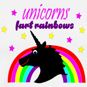 unicorns fart rainbows - Men's Premium T-Shirt